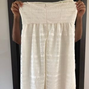 J.Crew strapless crocheted lace midi dress